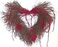 Hearts Desire Heart Wreath - 15 in