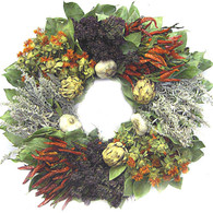 Herbal Medley Wreath - 22 in