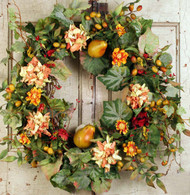 Homestead Fall Silk Door Wreath - 22 inch