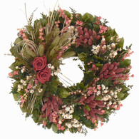Katharines Victorian Rose Wreath - 18 in