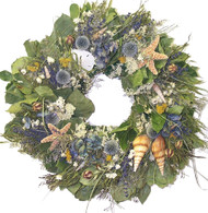 Kettle Cove Seashell Wreath 22 in