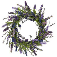 Lavender Fields Silk Door Wreath 18 inch
