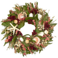 Lighthouse Bay Dried Flower Wreath - 16 in