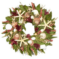 Lighthouse Bay Dried Flower Wreath - 18 in