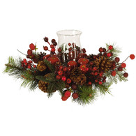 Madelines Apple Berry Holiday Candelabrum 17 inch