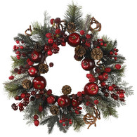 Madelines Apple Berry Holiday Wreath 22 inch