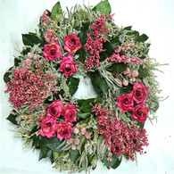 Magenta Rose Wreath