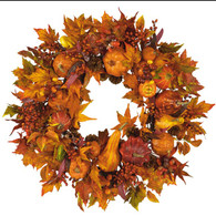 Mayflower Fall Silk Door Wreath - 22 inch