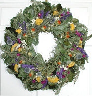 Meadow Sunrise Floral Wreath 22 in