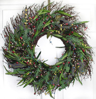 Meadow Sweet Silk Door Wreath - 18 in