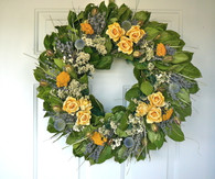 Sunshine Lane Rose Wreath - 22 in