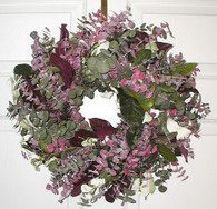 Mulberry Lane Eucalyptus Wreath - 17 inch