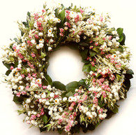 Nana's Medley Dried Flower Wreath - 22 in