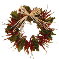 Hot Chili Herbal Wreath - 10 in