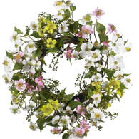 Blue Ridge Dogwood Silk Door Wreath 20 inch