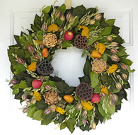 Orchard Bounty Fall Wreath - 22 inch