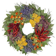 Patchwork Spices Wreath 16 in
