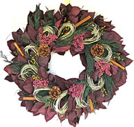 Pepperberry Cinnamon Natural Winter Wreath - 30 in