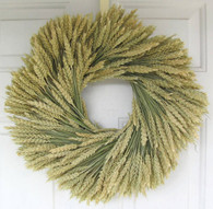 Prairie Charm Wheat Wreath - 19 in.