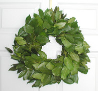 Preserved Salal Wreath - Kiwi 17 inch