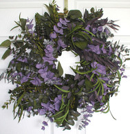 Purple Haze Eucalyptus Wreath - 17 inch