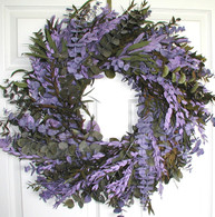 Purple Haze Eucalyptus Wreath - 24 inch