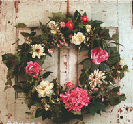 Rhapsody Silk Door Wreath 22 in