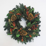 Russel Holiday Preserved Christmas Wreath - 20 inch