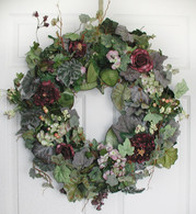 Sasha Silk Door Wreath - 22 inch