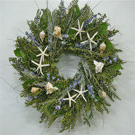 Sea Dreams Seashell Wreath 22 in