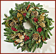 Seasons Memories Wreath - 19 in