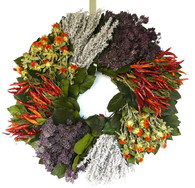 Spicy Hot Dried Chili Wreath - 22 in.