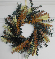 Sunset Eucalyptus Wreath - 17 inch