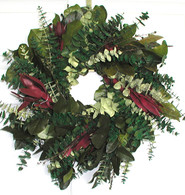 Sunrise Safari Eucalyptus Wreath - 17 inch