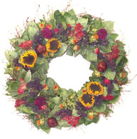 Summer Sunflower Wreath 22 in