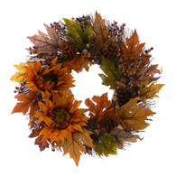 Sundried Floral Fall Wreath - 18 in