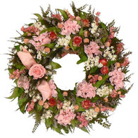 Tender Touch Wreath - 16 inch