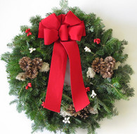Traditions Balsam Christmas Wreath - 22 in