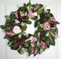 Victorian Country Rose Wreath - 24 in