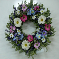 Violet Summer Floral Wreath 22 in