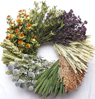 Vintage Wheel Wreath 22-24 in