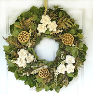 White Dried Christmas Wreath