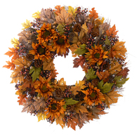 Sundried Floral Fall Wreath - 30 in