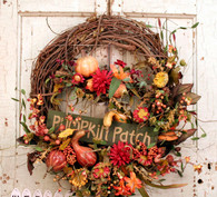 Pumpkin Patch Silk Country Wreath - 22 in