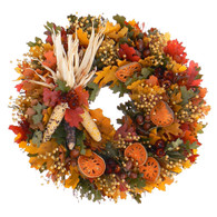 Pilgrims Harvest Thanksgiving Wreath