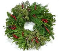 Rudolphs Fresh Christmas Door Wreath 22 in
