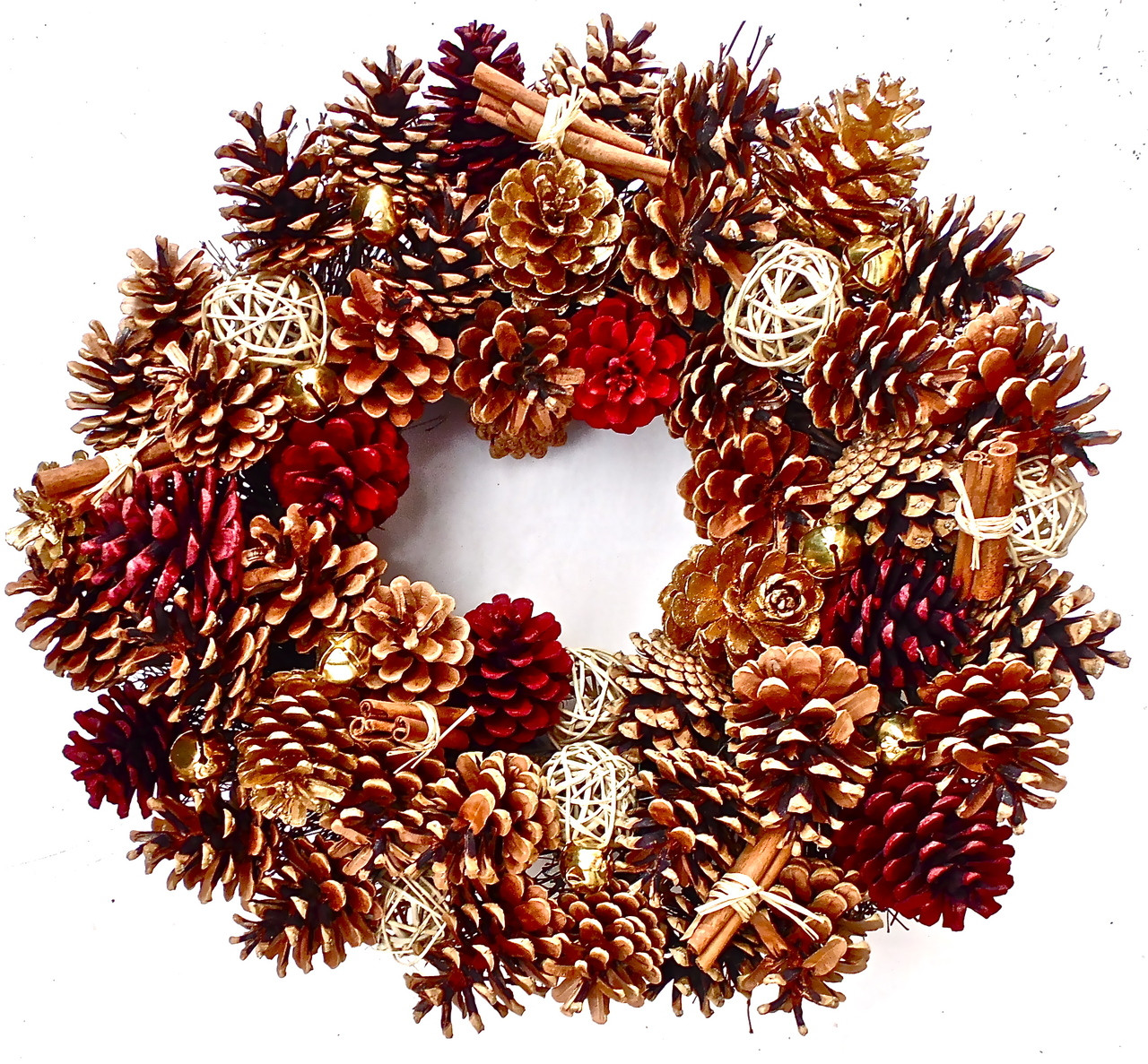 Pine Cone Wreath  20 in  The Wreath Depot - Christmas Decorations Home Depot