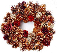 Pine Cone Wreath - 20 in