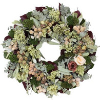 Luxury Floral Coral Rose Wreath