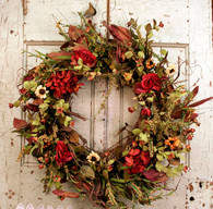 Rose Silk Door Wreath 22 in